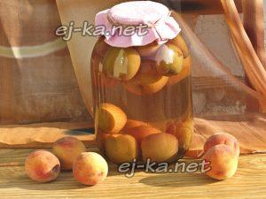 Компот из персиков в банках