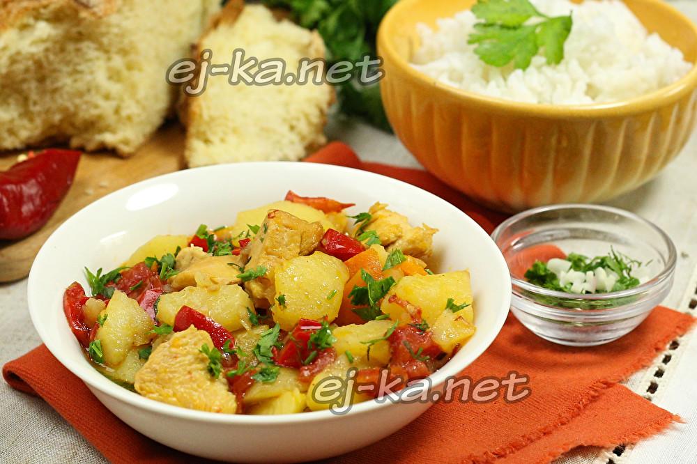 Рагу овощное картошкой рецепт