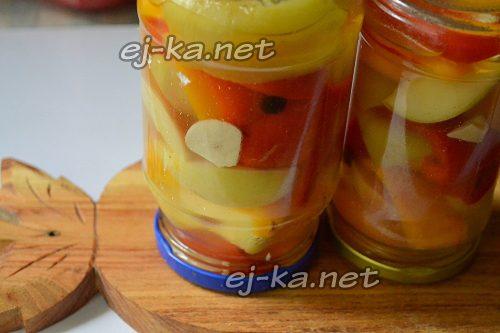 Маринованный перец с яблоками закрыть крышками на зиму