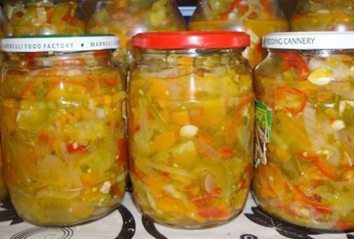 Салат из зеленых помидор на зиму, пальчики