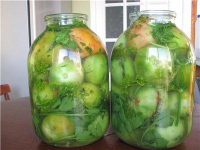 Зеленые помидоры пальчики оближешь