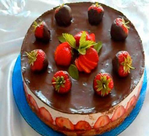 Торт с клубникой пошагово