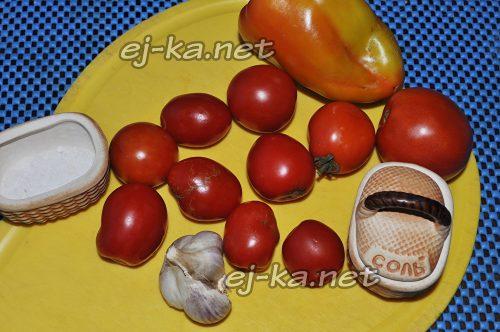 Ингредиенты для рецепта помидор в собственном соку