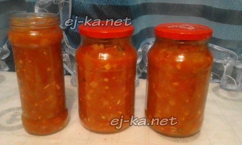 готовое лечо из болгарского перца и кабачков на зиму