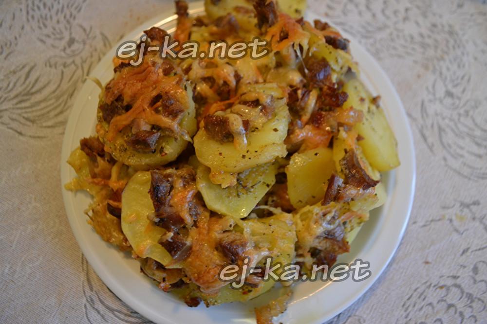 гратен из картофеля с индейкой