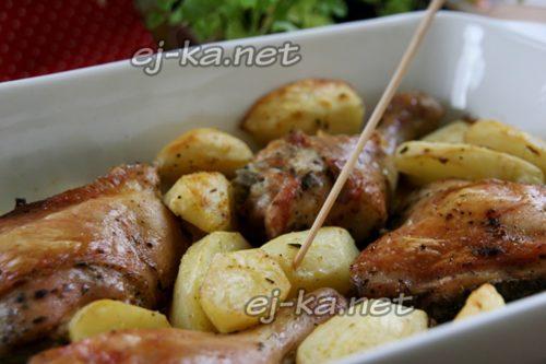 Курица с картошкой в духовке, рецепт самый вкусный