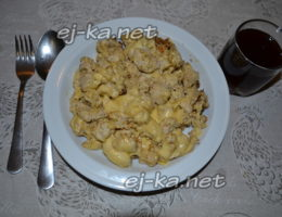 чахохбили по-аджарски с сыром