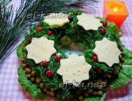 Миниатюра к статье Салат «Рождественский венок»