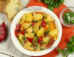 Миниатюра к статье Рагу с курицей и овощами