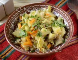 Рагу овощное с капустой, с картошкой и кабачками