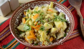 Миниатюра к статье Овощное рагу с капустой, с картошкой и кабачками