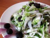 Миниатюра к статье Салат из пекинской и белокочанной капусты