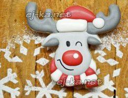 Миниатюра к статье Новогоднее печенье с глазурью «Олень»