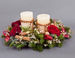 Новогодние композиции на стол своими руками