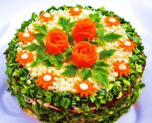 Праздничный, закусочный торт