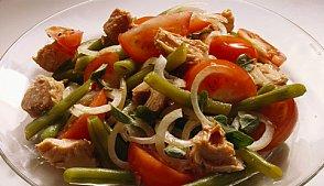 Теплый салат из печеных овощей