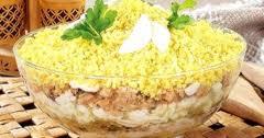 Салат мимоза с рыбой