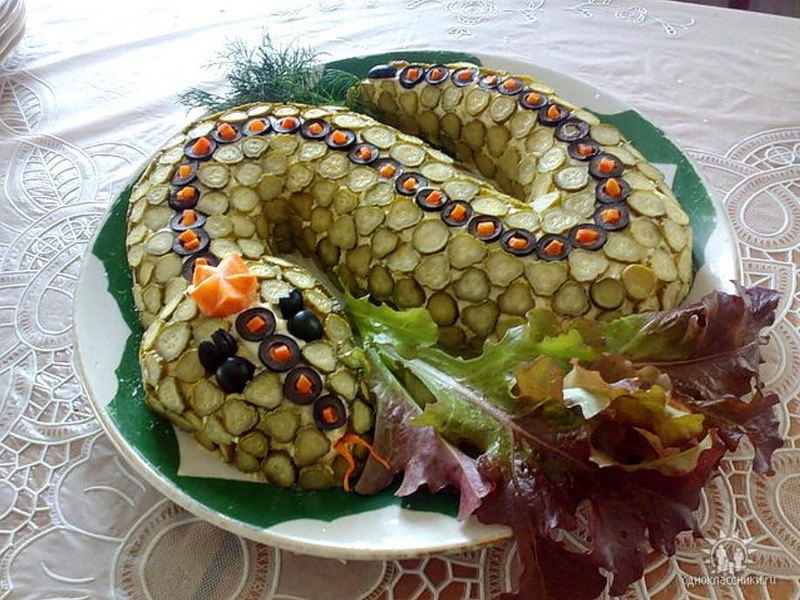 Салат рецепты год змеи