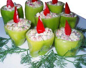 Салат «Свечи на Рождество»