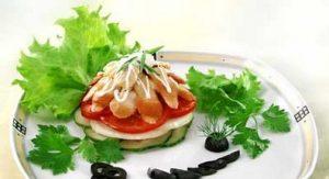 Рецепт салата из морских гребешков