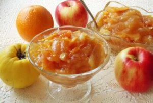 Варенье из крыжовника, яблок и айвы