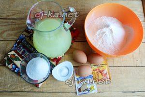 Ингредиенты блинов на сыворотке
