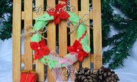Оригинальный рождественский венок из фетра