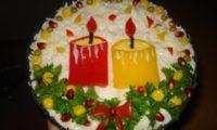 Салат со свечками
