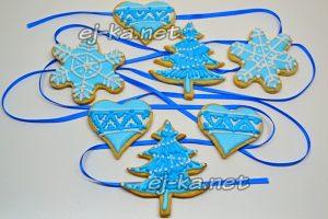Новогоднее печенье ассорти с глазурью