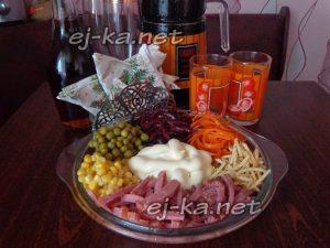 Салат Козел в огороде рецепт с фото