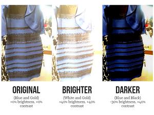 А какой цвет платья видите вы?