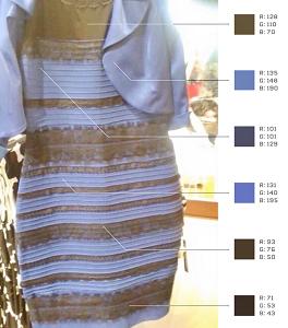 Какого цвета платье действительно