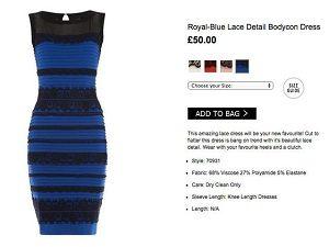 Действительный цвет скандального платья