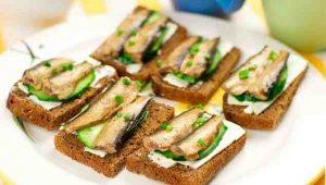 Рецепты бутербродов со шпротами