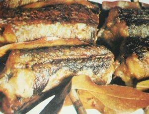 рыба на шампурах