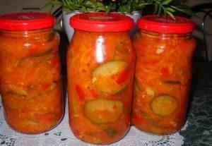 рецепты салатов на зиму
