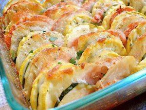 Запеченые овощи с сыром