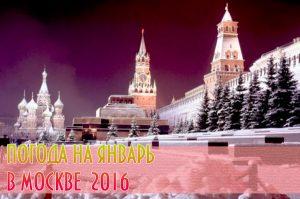 погода в москве зимой 2016