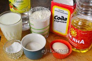 Ингредиенты для пышных оладий