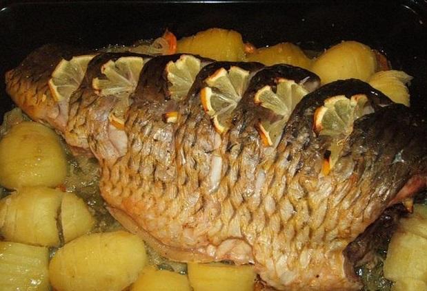 рыба с картошкой в духовке рецепты с фото пошагово