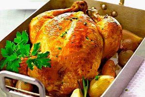 Жареная курица в духовке с хрустящей корочкой