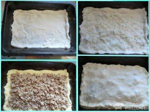 Пирог с мясом и картошкой из дрожжевого теста с фото
