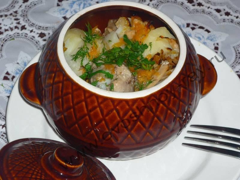 Курица с картофелем в горшочке рецепт