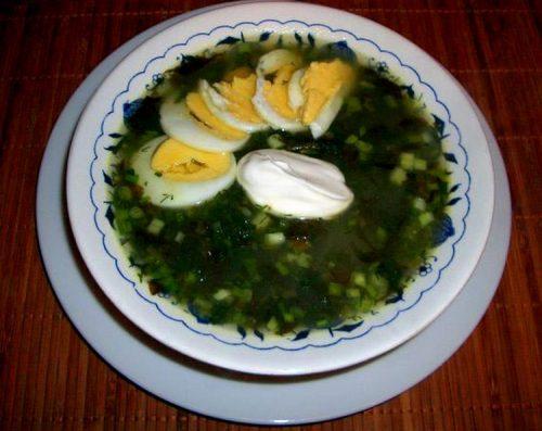 Суп из щавеля с яйцом классический рецепт