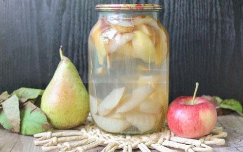 свежий компот из груш рецепт