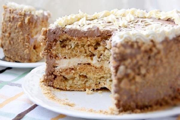 торт без выпечки на скорую руку рецепт пошагово