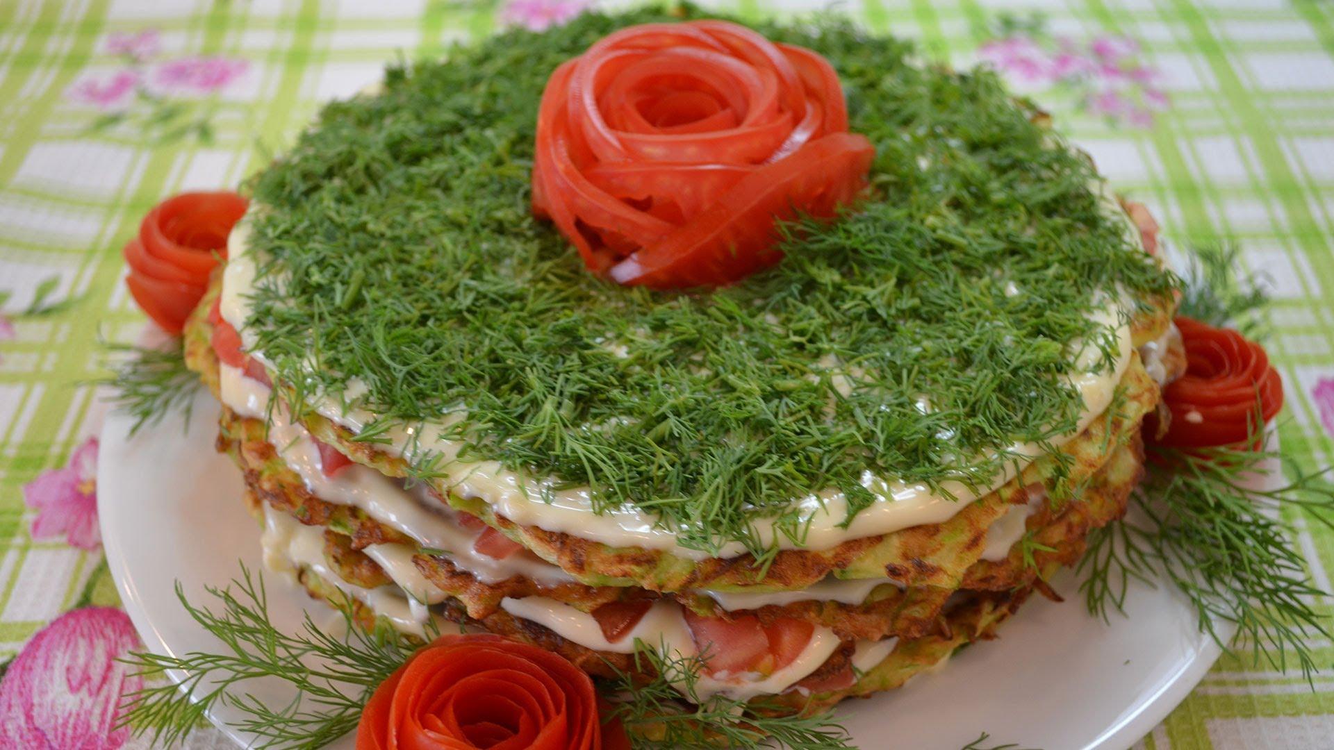 блюда торт из кабачков