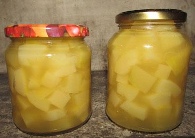 Кабачки, как ананасы на зиму с ананасовым соком