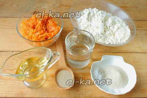 Ингредиенты для жареных пирожков с капустой
