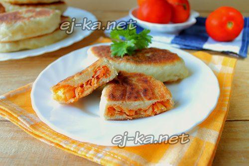 1Пирожки с капустой жареные на сковороде